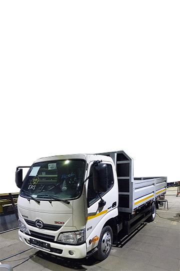 Бортовой автомобиль Hino 300 со стальным бортом