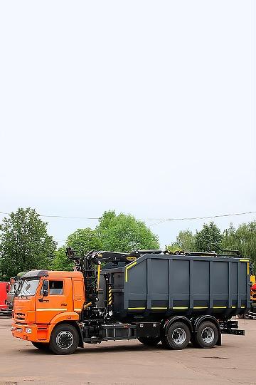 Ломовоз ВЕЛМАШ ОМТ-120М на шасси КАМАЗ 65115
