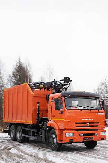 Ломовоз Palfinger ВЕЛМАШ VM10L74M на шасси КАМАЗ 65115