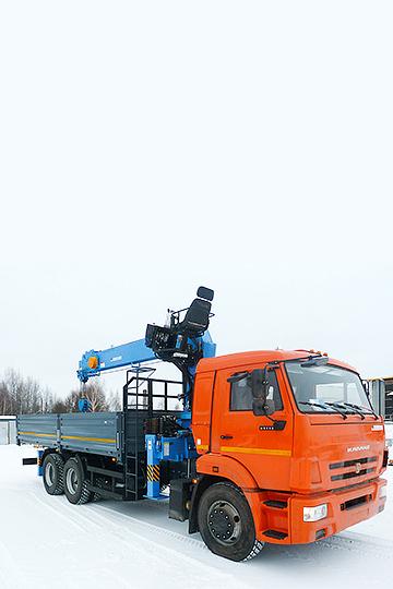 Манипулятор DONGYANG SS1506 на шасси КАМАЗ 65115