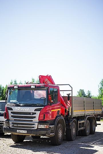 Манипулятор Fassi F215A на шасси Scania P380