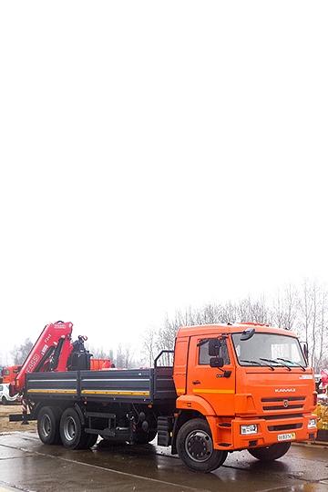 Манипулятор Fassi F245A на шасси КАМАЗ 65115