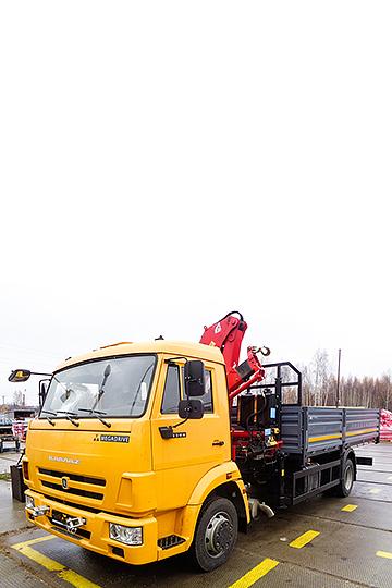 Манипулятор FERRARI 710 на шасси КАМАЗ 4308