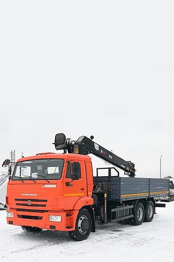 Манипулятор Hiab 190TM-6 на шасси КАМАЗ 65115