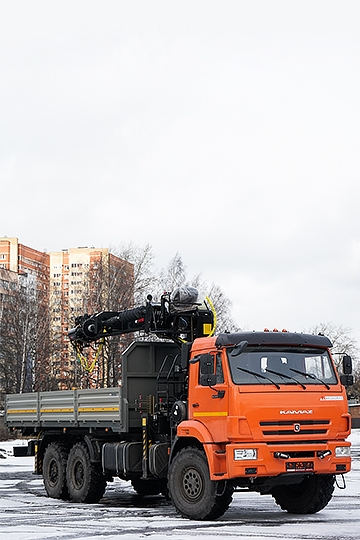 Манипулятор Hiab 190TM с буром на шасси КАМАЗ-43118