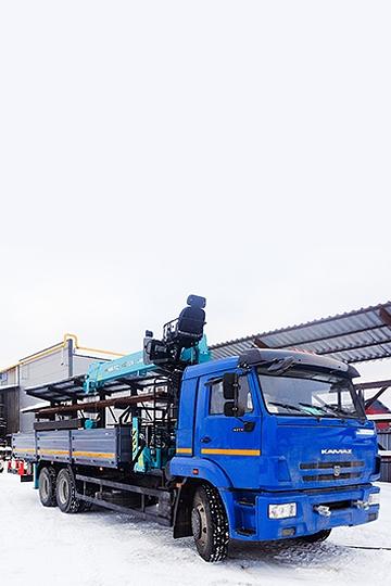 Манипулятор HKTC HLS-7016L на шасси КАМАЗ 65117