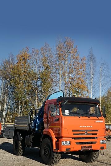 Манипулятор Инман ИМ-150 на шасси КАМАЗ 43502