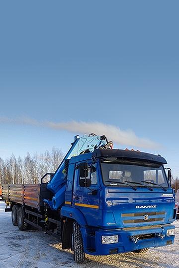 Манипулятор INMAN ИМ 240А на шасси КАМАЗ 65117
