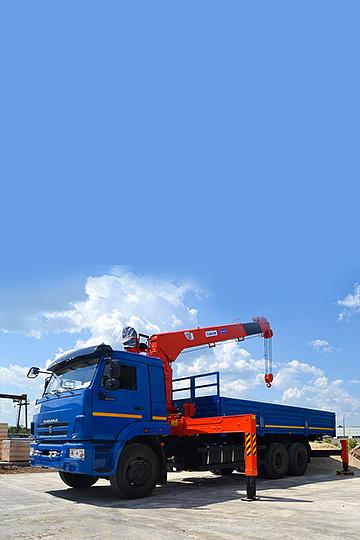 Манипулятор KANGLIM 1256G-II на шасси КАМАЗ 65117