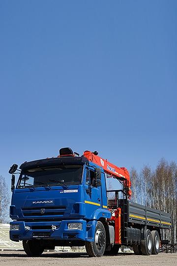 Манипулятор KANGLIM KS 1256G-II на шасси КАМАЗ 65117