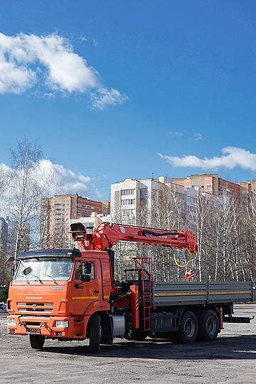 Манипулятор Kanglim KS-2056 на шасси КАМАЗ-65115