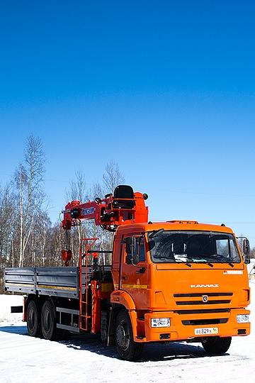 Манипулятор Kanglim KS1256 GII на шасси КАМАЗ 65115