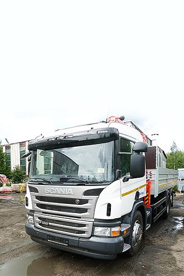Манипулятор Kanglim KS1256 GII на шасси Scania P360