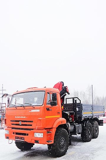 Манипулятор PALFINGER PK12000А на шасси КАМАЗ 5350