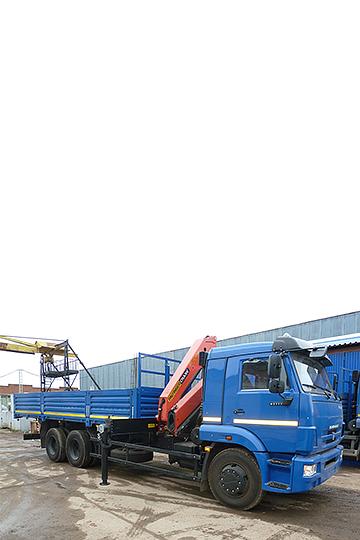Манипулятор PALFINGER PK15500A на шасси КАМАЗ 65117