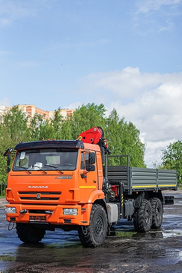 Манипулятор Palfinger PK23500A на шасси КАМАЗ-43118