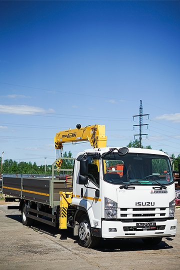 Манипулятор Soosan SCS 514 на шасси Isuzu Forward