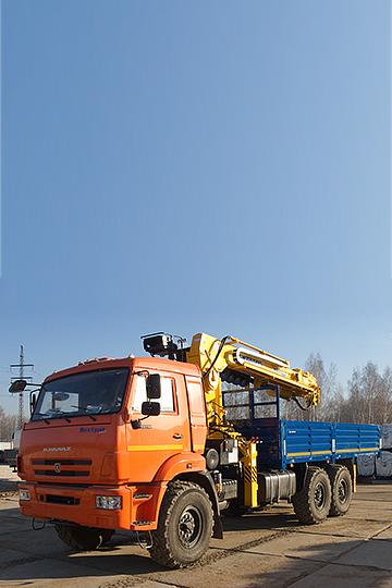 Манипулятор Soosan SCS 866LS на шасси КАМАЗ 43118