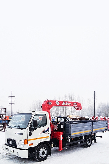 Манипулятор UNIC URV 374 на шасси Hyundai HD-78