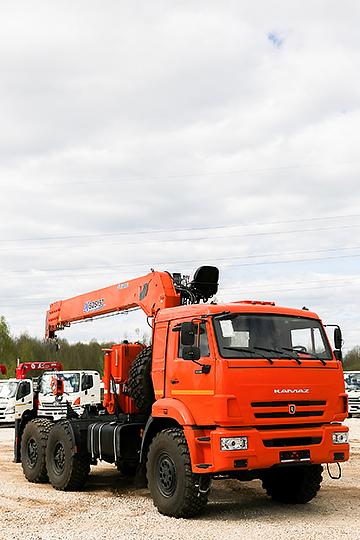 Манипулятор XCMG SQS 157 на шасси КАМАЗ 53504