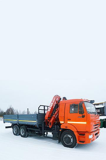 Манипулятор Atlas 145CS на шасси КАМАЗ 65115