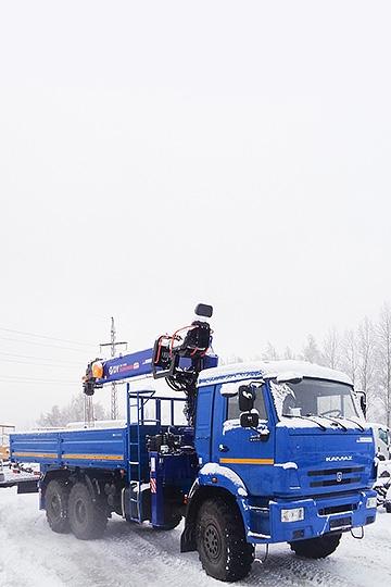 Манипулятор DONGYANG SS1956 на шасси КАМАЗ 43118