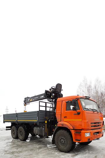 Манипулятор HIAB 160 Т-6 на шасси КАМАЗ 43118