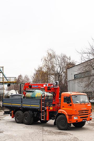 Манипулятор KANGLIM 1256G-II на шасси КАМАЗ 43118