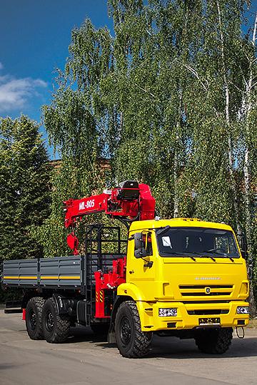 МАНИПУЛЯТОР ML-805 (МП-805) НА ШАССИ КАМАЗ 43118