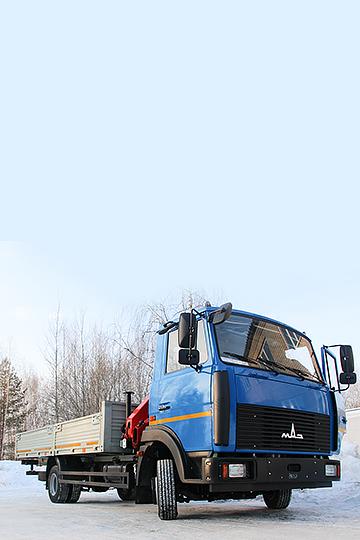 Манипулятор PALFINGER PK 6500 на шасси МАЗ 4370